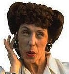 Ernestine the telephone operator, played by Lilly Tomlin
